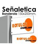 Señalética Banderola 150x200