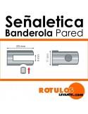 Señalética Banderola 200x300
