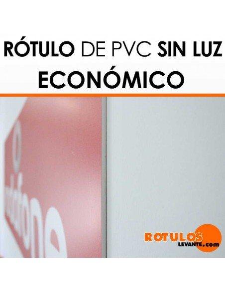 Rótulo económico de pvc