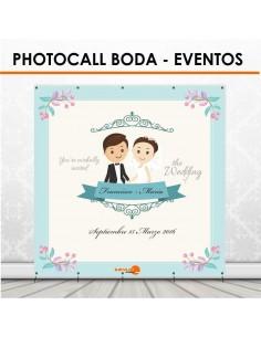 Photocall económico para boda