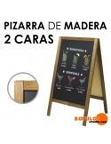 Pizarra Madera Caballete 100x44 2 Caras
