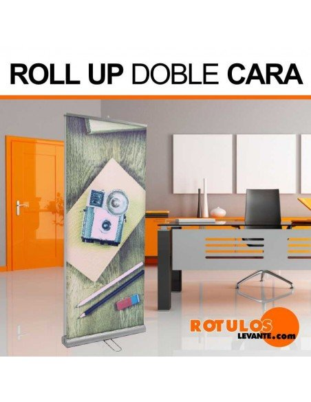 Roll up banner doble cara