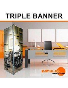 Triple banner expositor
