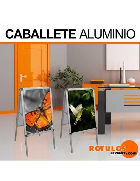 Caballete publicitario aluminio