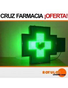 Banderola led cruz para farmacia