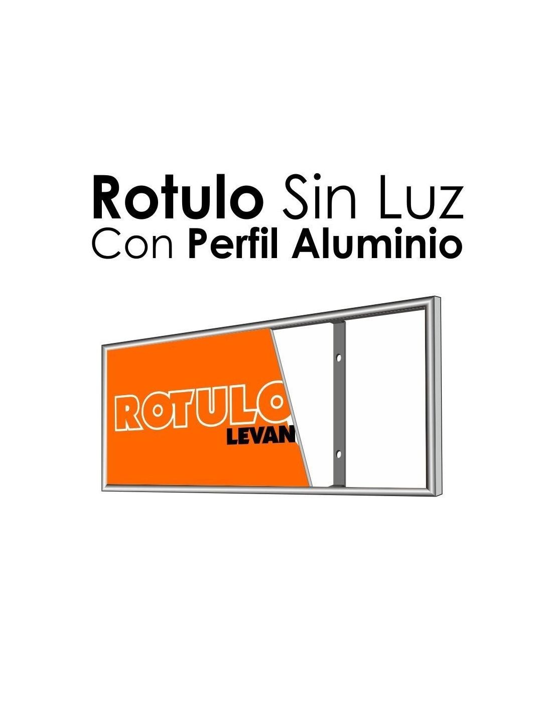 Rotulos sin luz con marco baratos rotulos publicitarios for Marco 100x70