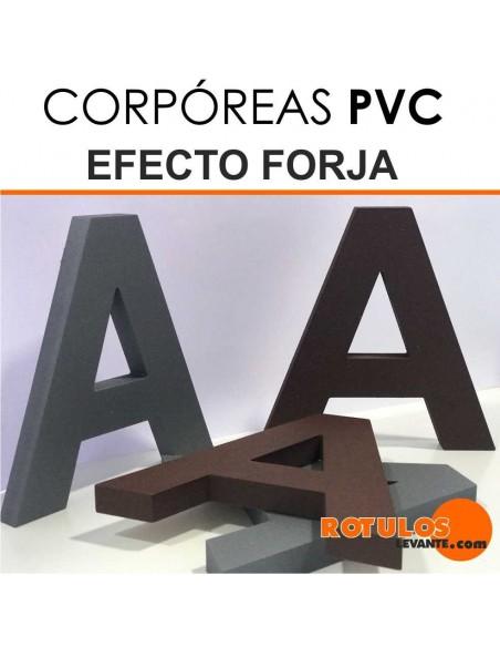 Letras pvc efecto forja
