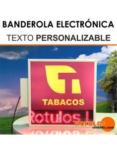 BANDEROLA TEXTO PERSONALIZABLE LED