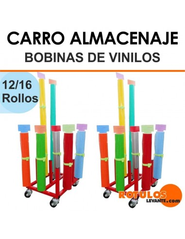 Almacenaje bobinas vinilo carro for Rollos de vinilo