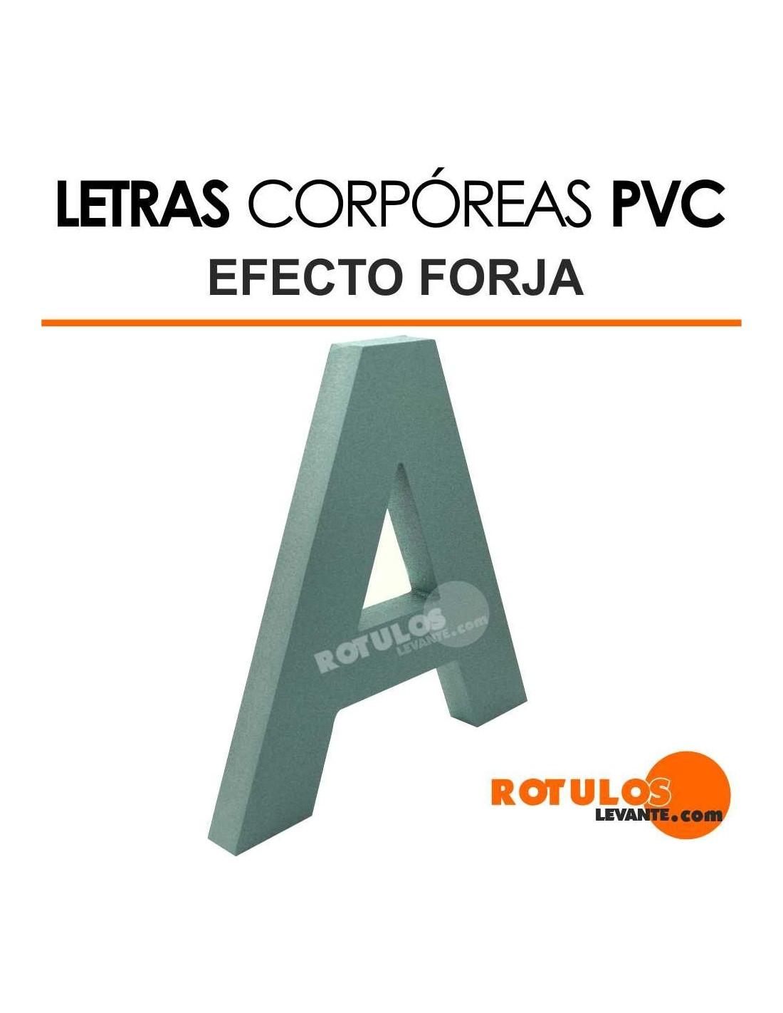Letras de PVC Efecto Forja