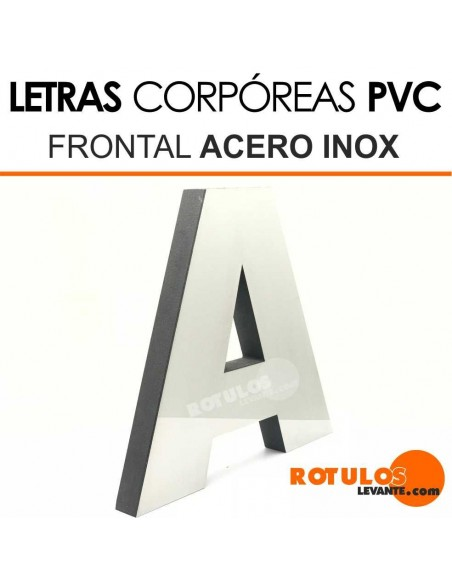 Letras pvc forja frontal acero