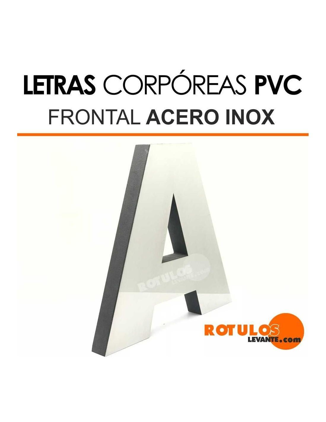 Letras Corpóreas PVC Frontal de Acero