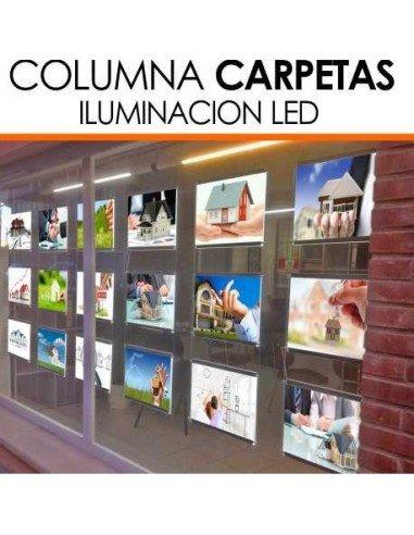 Columnas carpetas led inmobiliarias