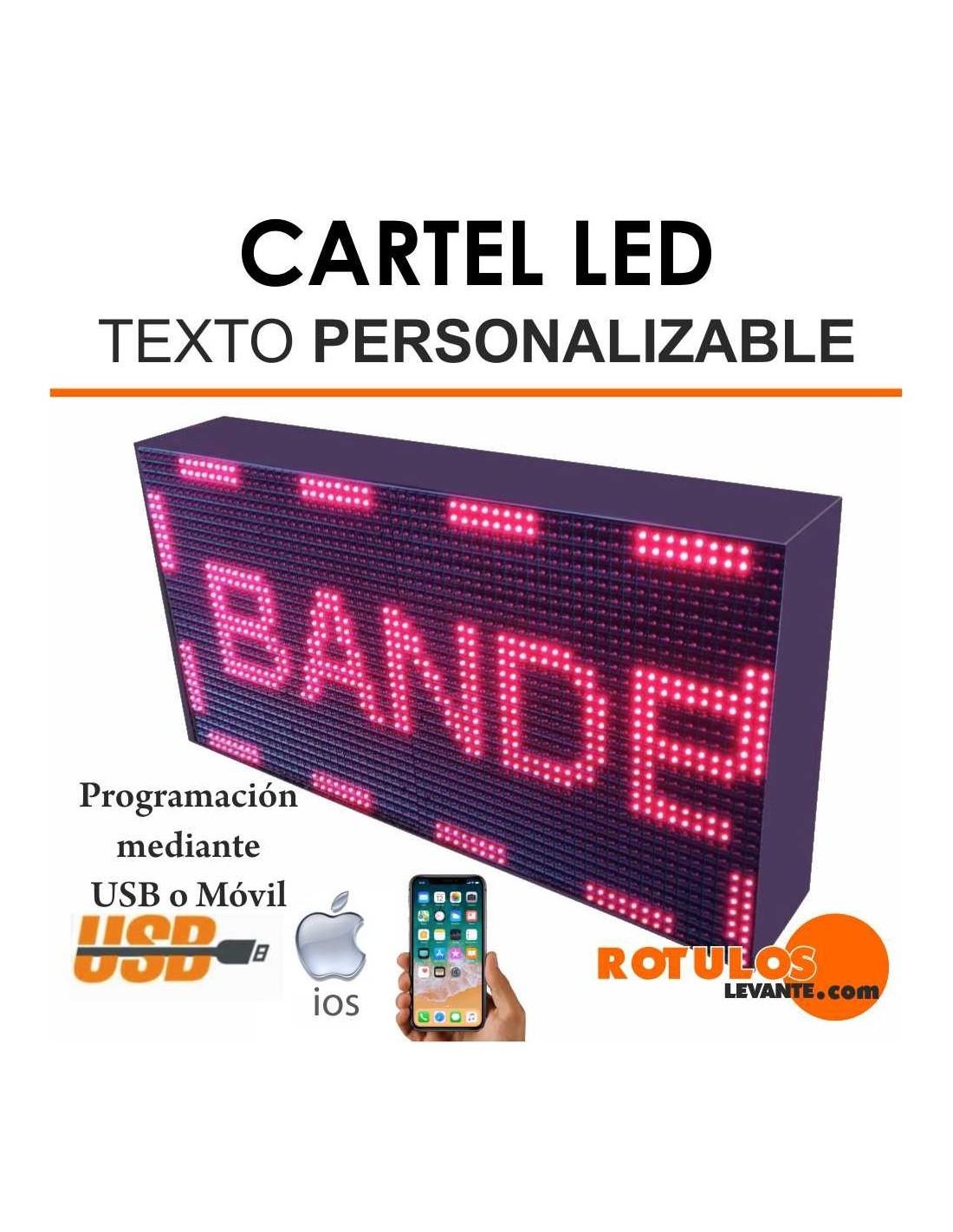 Cartel LED con Texto Personalizable