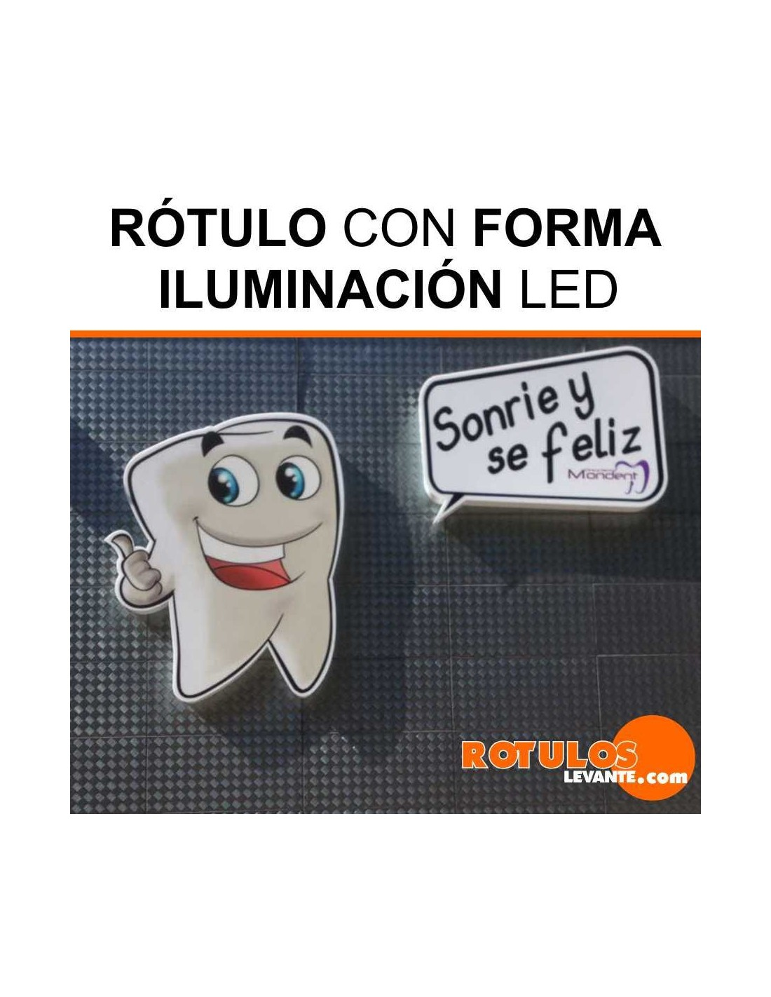 rotulo luminoso formas