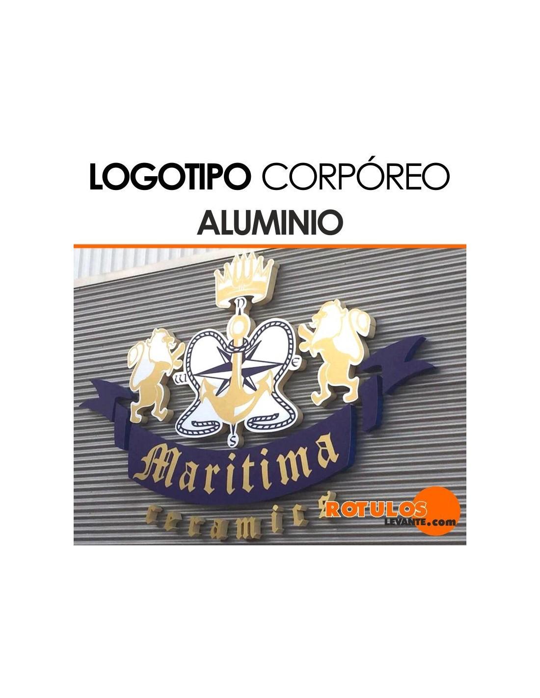 Logo Corpóreo de Aluminio