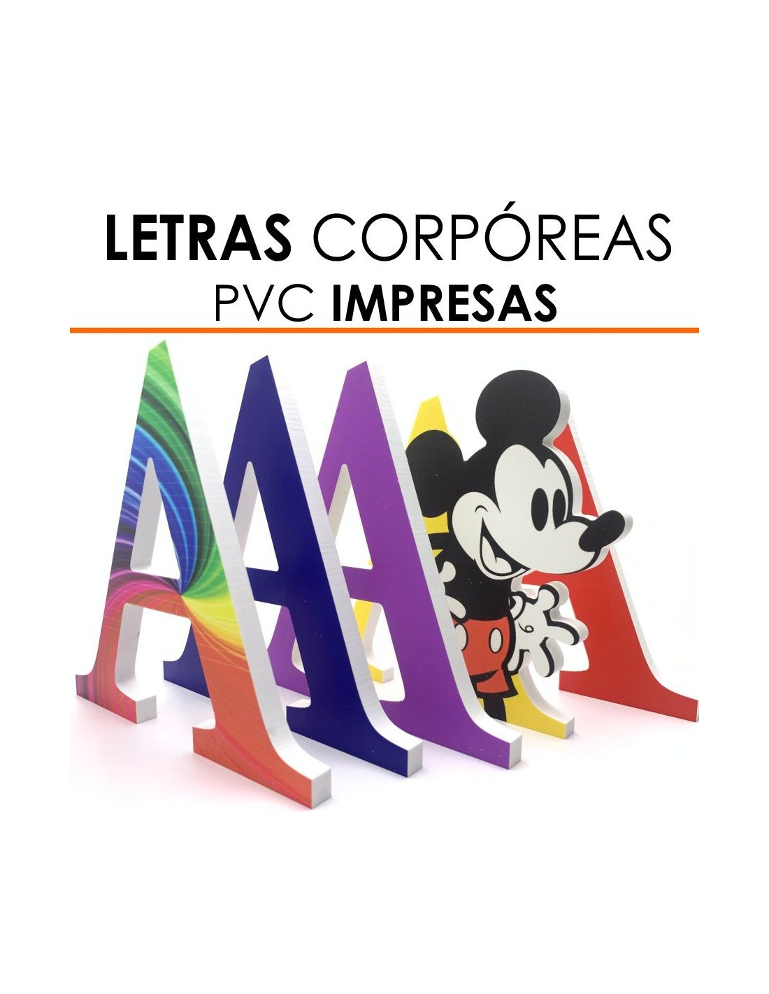 Letras Corpóreas PVC Impresas