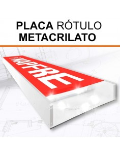 PLACA METACRILATO ROTULO