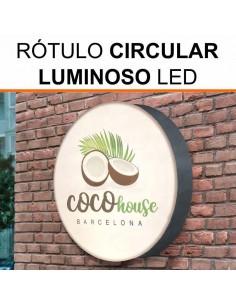 Rótulo luminoso circular