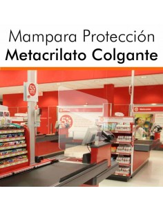MAMPARAS METACRILATO COLGANTES