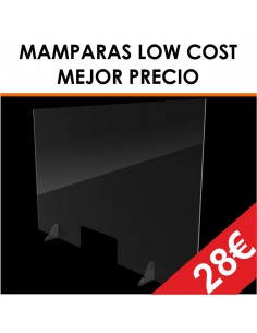 MAMPARA METACRILATO LOW COST