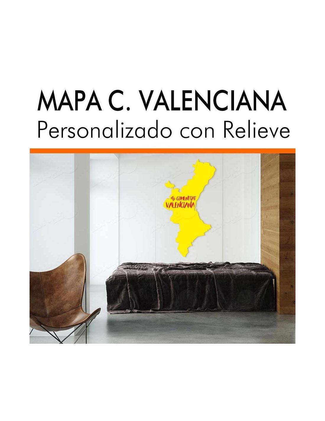 Mapa C. Valenciana en relieve