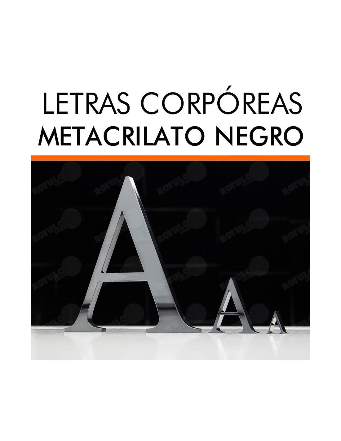Letras metacrilato negro