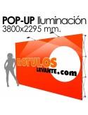 Photocall expositor con Iluminación.
