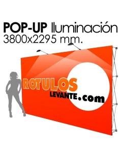 PhotoCall 3800x2295 mm. Expositor con Iluminación.