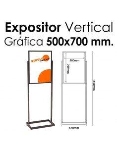 Expositor Acero Feria 500x700 mm.
