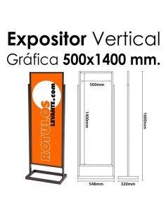 Expositor Acero Feria 500x1400 mm.