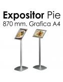 Expositor Aluminio de Pie A4