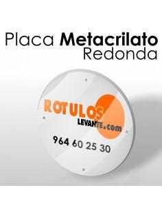 Placa metacrilato redonda
