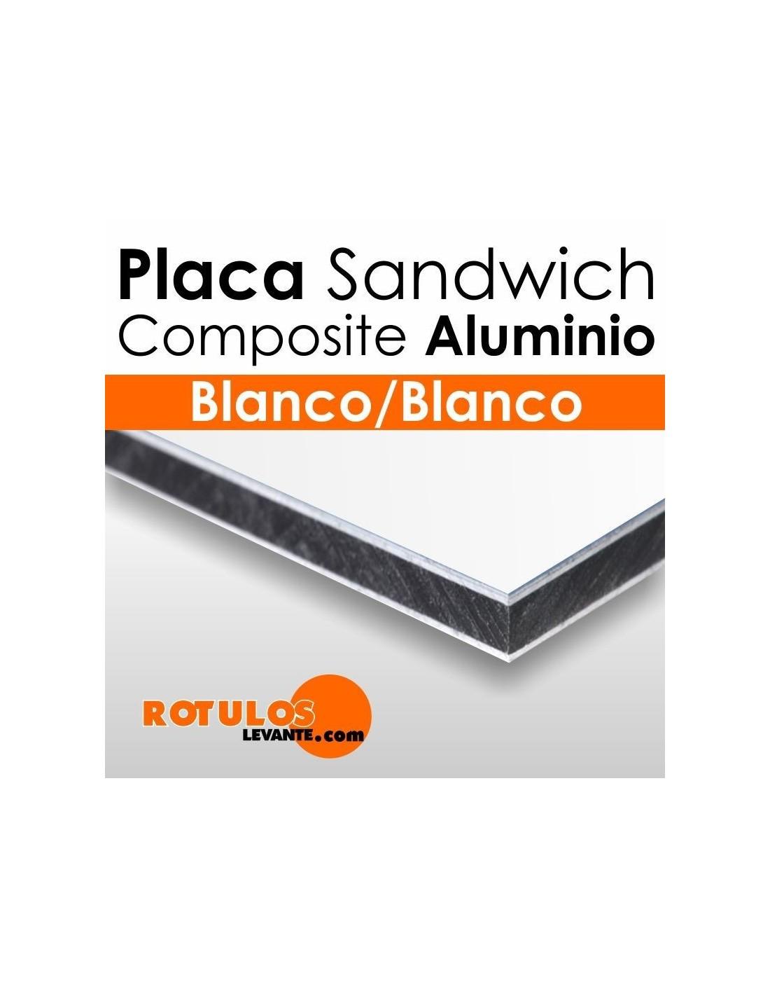 Placa aluminio comp site blanco online for Panel sandwich aluminio blanco