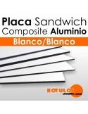 Placa Sandwich Aluminio Composite Blanco