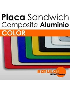 Placa Sandwich Aluminio Composite Color