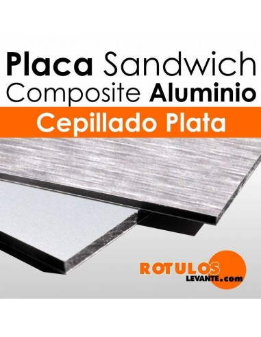 Placa s ndwich aluminio composite plata for Panel sandwich aluminio