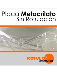PLACAS METACRILATO SIN ROTULAR
