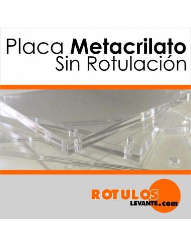 Placas de metacrilato sin rotular