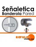 Señalética banderola online