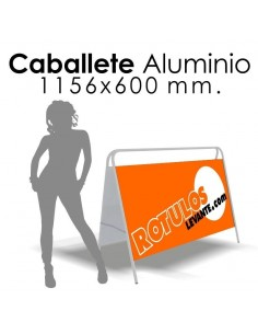 Caballete aluminio 1160x60