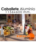 Caballete aluminio rectangular