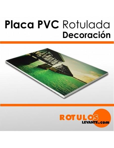Cuadros de PVC rotuladas