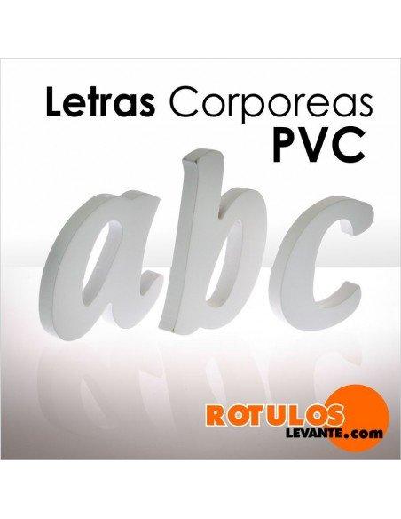 Letras corpóreas PVC blanco