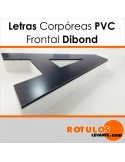 Corpóreas PVC con frontal de Dibond