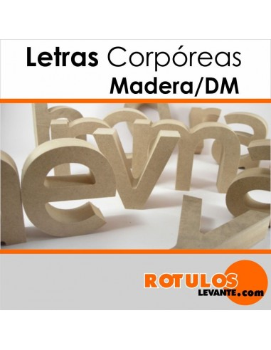 Letras corporeas dm natural.