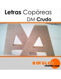 Letras corpóreas DM natural