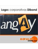 Logotipo corpóreas de dibond