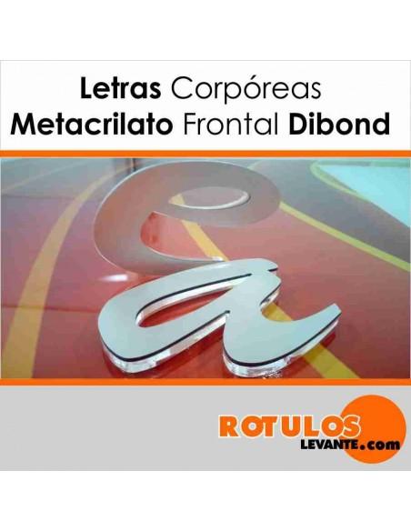 Corpóreas metacrilato con frontal dibond