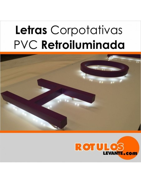 Corpóreas PVC con luz posterior